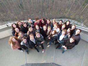 Na vrcholu televizní věže ve Stuttgartu