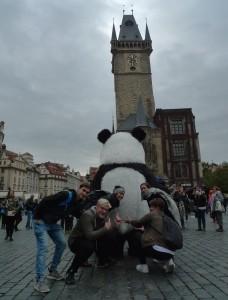Kdysi tu stál Mariánský sloup, teď nějaká panda…