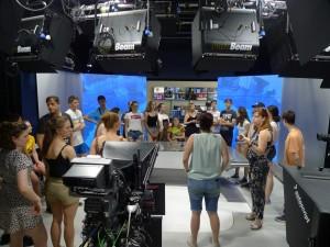 V brněnském televizním studiu