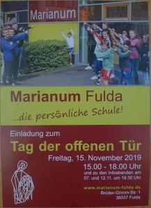 školu Marianum čekal zrovna Den otevřených dveří