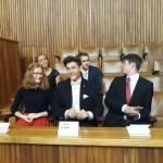 Jakub Dokulil s dalšími oceněnými studenty