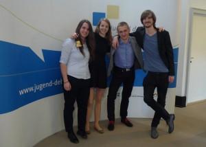 Zástupci poroty z Brna: Klára, Iva (GML), Víťa a Georg
