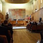 Velká aula Karolina-zahájení slavnostního shromáždění USČR