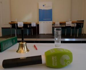 V pátek bylo v Goethe-Institutu vše připraveno.