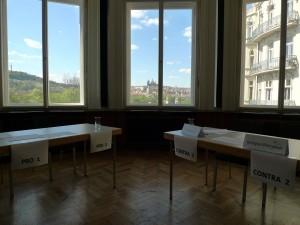 Jiní soutěžící měli krásné výhledy na Petřín či na Hrad.